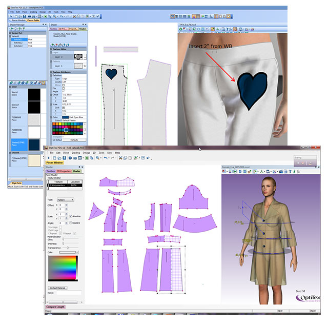 Optitex 2d 3d cad cam textile apparel design 3d design application